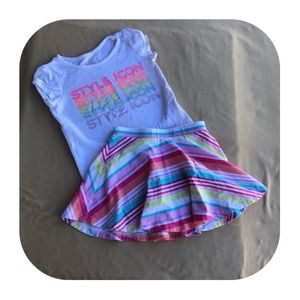 Children's Place skirt outfit 3T